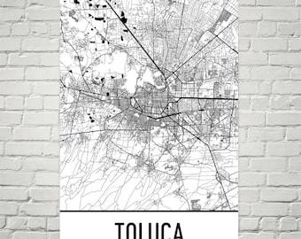 Toluca map Etsy