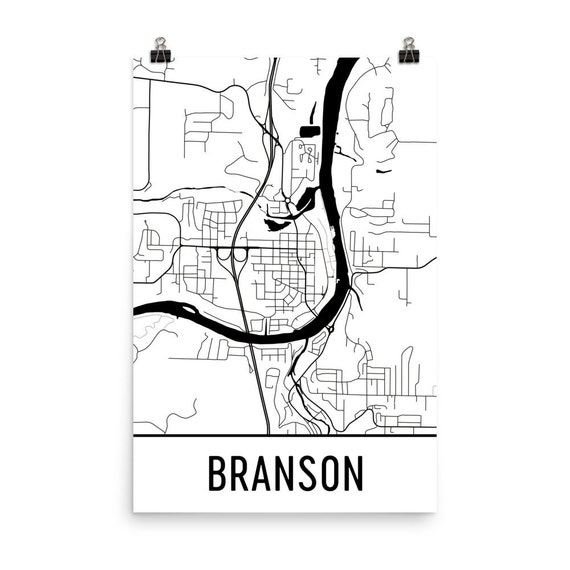 Branson Map Branson Art Branson Print Branson MO Poster - Printable map of branson mo