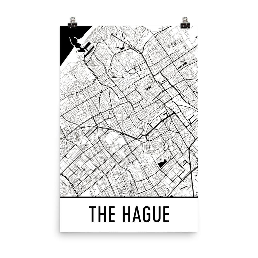 Den Haag Karte Haag Art Haag Druck den | Etsy