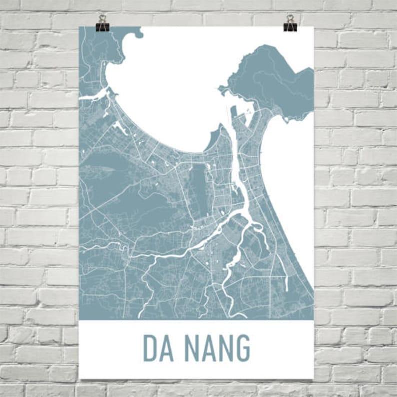 Da Nang Map Danang Art Da Nang Print Da Nang Vietnam Etsy