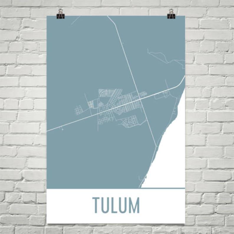 Tulum Map Tulum Art Tulum Print Tulum Mexico Poster Etsy