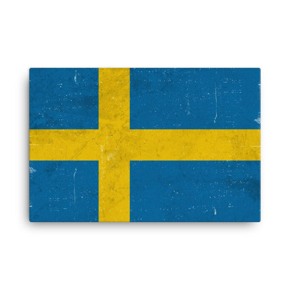 Sweden Flag Sweden Flag Art Swede Flag Sweden Flag Wall   Etsy