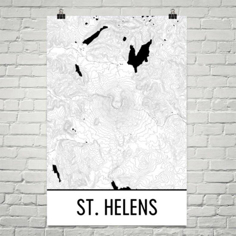 Mt St Helens Print Mount St Helens Washington Poster St Etsy