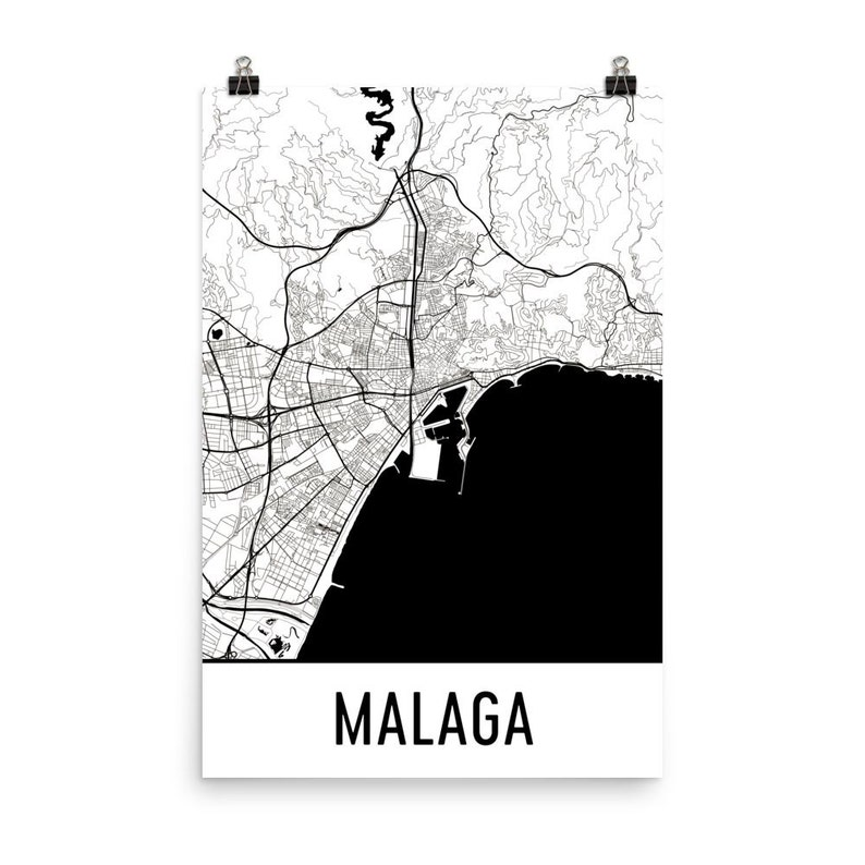 Malaga Karte Spanien.Malaga Karte Malaga Kunst Malaga Druck Malaga Spanien Poster Malaga Wandkunst Karte Von Malaga Malaga Dekor Malaga Malaga Geschenk Karte