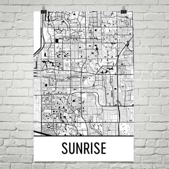 Sunrise Map Sunrise Art Sunrise Print Sunrise Fl Poster Etsy