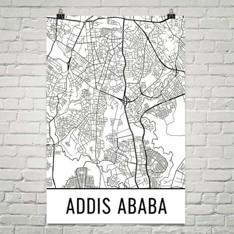 Addis Ababa Map Addis Ababa Art Addis Ababa Print Addis | Etsy