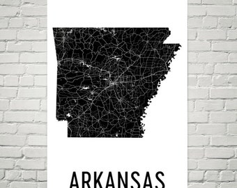 Arkansas Art, Arkansas Map, Arkansas Print, Arkansas Wall Art, Arkansas Sign, Arkansas Gifts, Arkansas Decor, Arkansas, Map of Arkansas