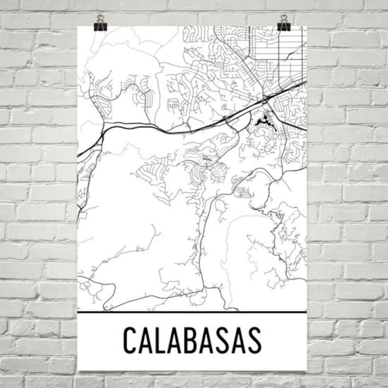 Calabasas California Map Calabasas Art Calabasas Print | Etsy on