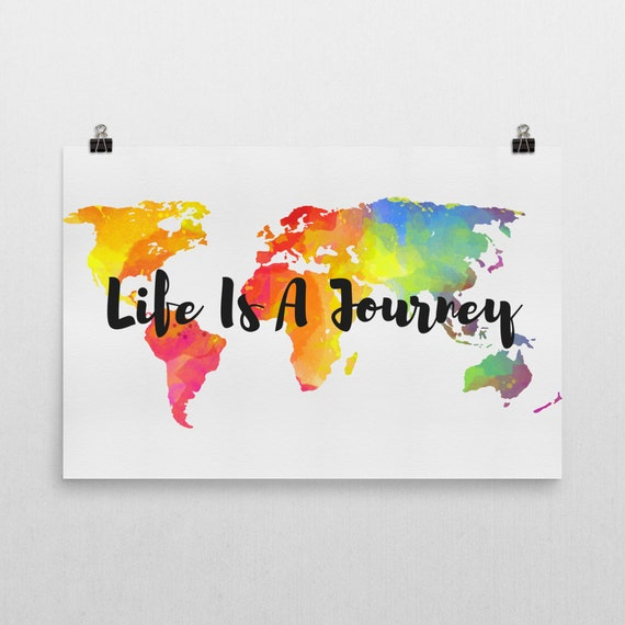 Life Is A Journey Sign Life Is A Journey Art Life S A Etsy