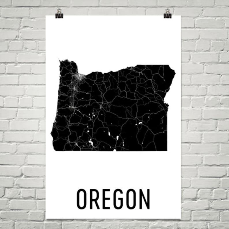 Oregon Art Oregon Print Oregon Map Oregon State Oregon | Etsy on