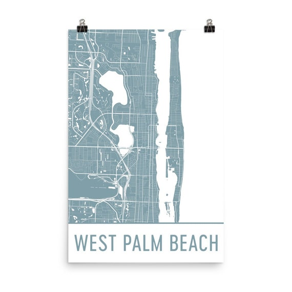 Map Of West Palm Beach Florida.West Palm Beach Map West Palm Beach Art West Palm Beach Etsy