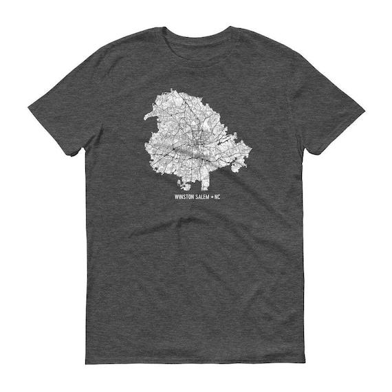 Winston Salem Shirt, Winston Salem NC, Winston Salem TShirt, Winston Salem Gift, Winston Salem Map, Winston Salem Tee, NC Shirt, NC Map