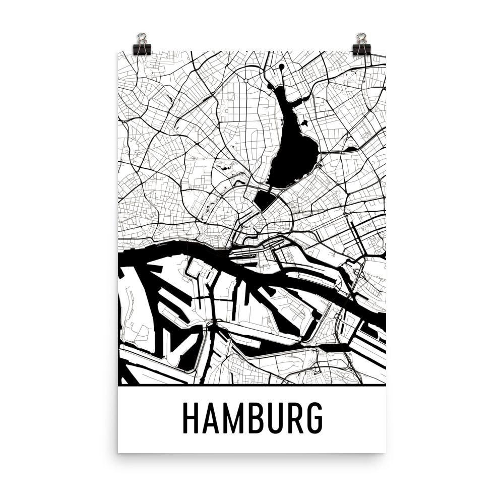 Hamburg Kunst Hamburg Druck Hamburg Deutschland Poster | Etsy