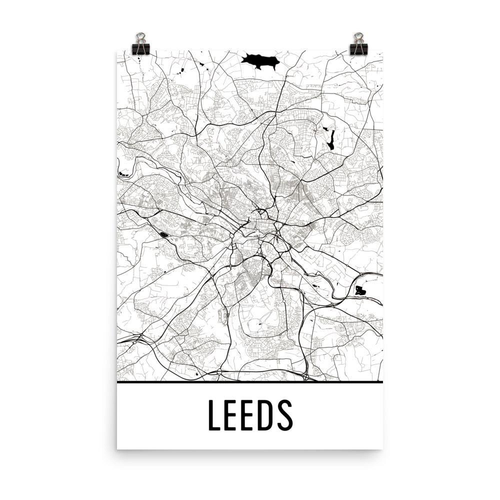 Leeds Kunst Leeds Druck Leeds England Poster Leeds