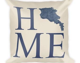 Armenia Pillow, Armenia Gifts, Armenian Decor, Armenia Home, Armenia Throw Pillow, Armenia Art, Armenia Map, Armenia Cushion, Armenian Art