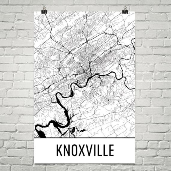 Knoxville Map Knoxville Art Knoxville Print Knoxville TN | Etsy