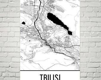 Tbilisi Map, Tbilisi Art, Tbilisi Print, Tbilisi Georgia Poster, Tbilisi Wall Art, Georgian Gifts, Map of Georgia, Georgian Art