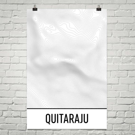 Andes Mountains Peru Map.Quitaraju Print Andes Mountain Poster Peru Map Andes Etsy