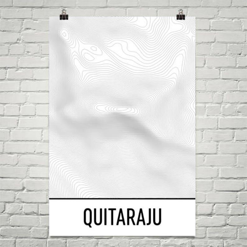 Quitaraju Print, Andes Mountain Poster, Peru Map, Andes, Peruvian Art, Peru  Print, Contour Lines, Hiking Gift, Mountain Art Print