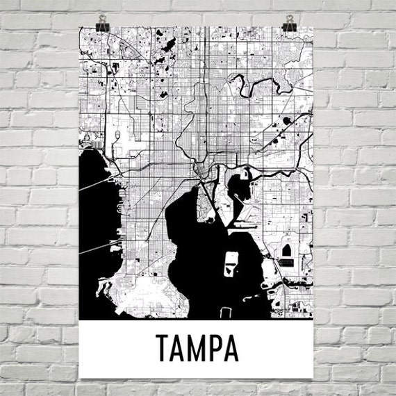 Map Of Tampa Bay Florida.Tampa Bay Map Tampa Bay Art Tampa Bay Print Tampa Bay Fl Poster Tampa Wall Art Map Of Tampa Bay Tampa Bay Gift Tampa Bay Decor Art