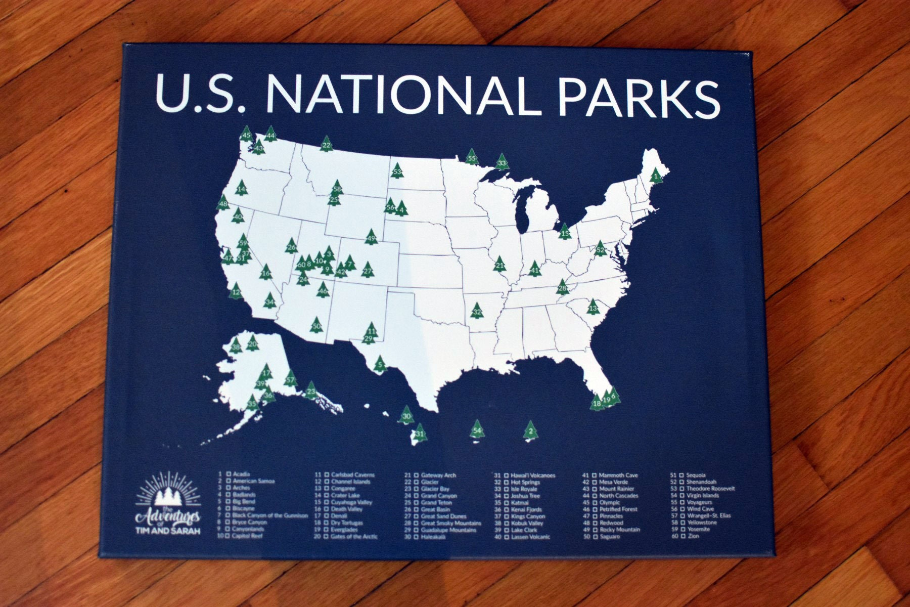 National Park Gift 60 National Parks America Park Map | Etsy on