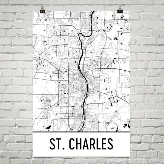 st charles il map
