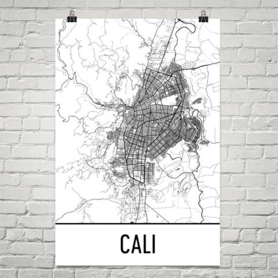 Cali map cali art cali print cali colombia poster cali publicscrutiny Image collections