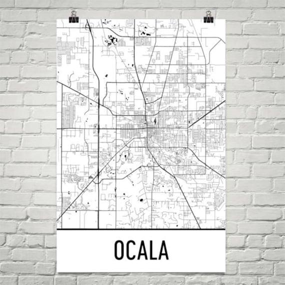 Map Of Ocala Florida.Ocala Fl Map Ocala Florida Art Ocala Print Ocala Poster Etsy