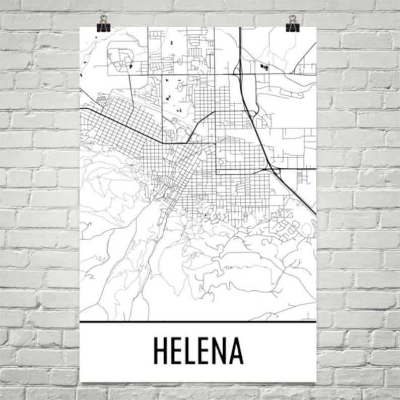 Helena Montana Map Helena Art Helena Print Helena MT | Etsy