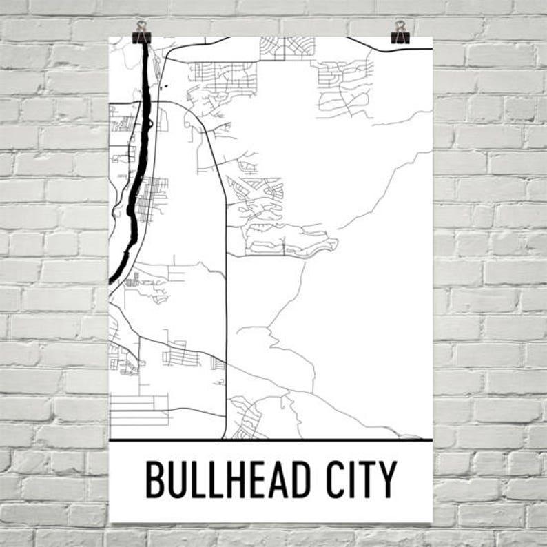 Map Of Arizona Bullhead City.Bullhead City Az Map Bullhead City Arizona Art Bullhead City Print Bullhead City Poster Wall Art Gift Arizona Decor Arizona Map