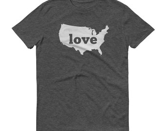 America Shirt, America T Shirt, USA Shirt, USA TShirt, USA Clothing, America Map, American Gifts, Made in America, Made in usa, Love Us