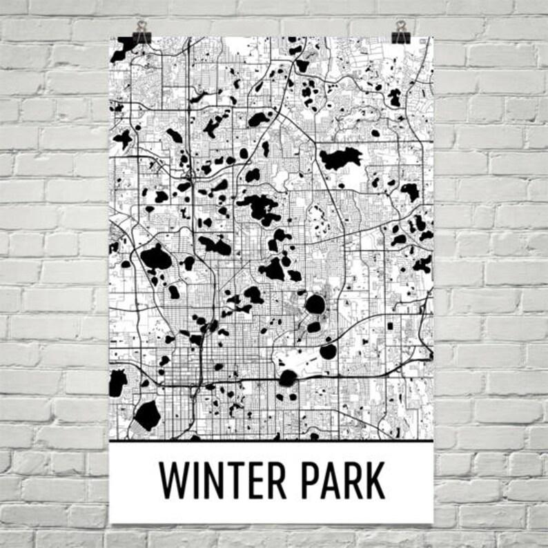 Map Of Winter Park Fl Winter Park FL Map Winter Park Florida Art Winter Park | Etsy