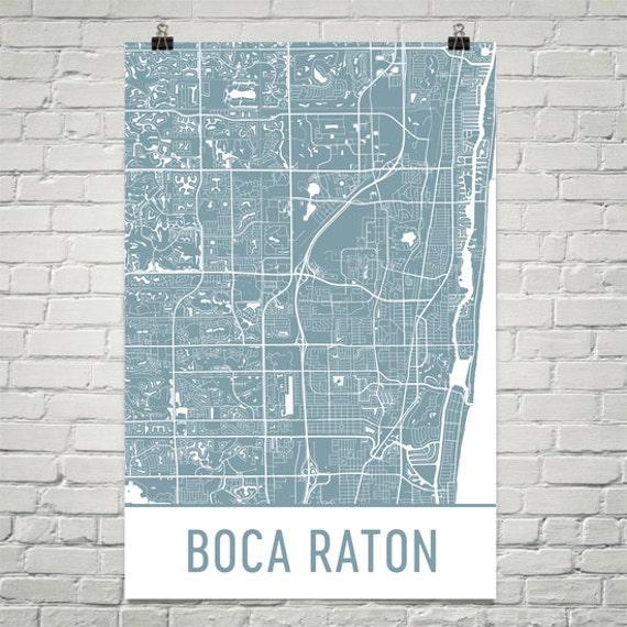 Map Of Boca Raton Florida.Boca Raton Map Boca Raton Art Boca Raton Print Boca Raton Etsy