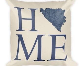 Bosnia and Herzegovina Pillow, Bosnian Gifts, Bosnia Decor, Bosnia Home, Bosnia Throw Pillow, Bosnia Art, Bosnia Map, Bosnia Cushion