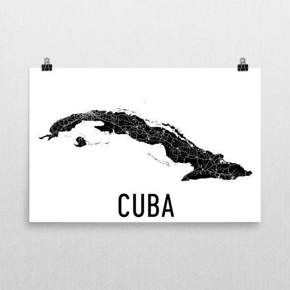 Kuba Karte kubanische Kunst Kuba-Poster-Karte von Kuba Kuba