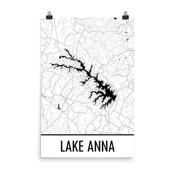 Lake Anna Virginia Lake Anna Va Lake Anna Map Virginia Map Etsy