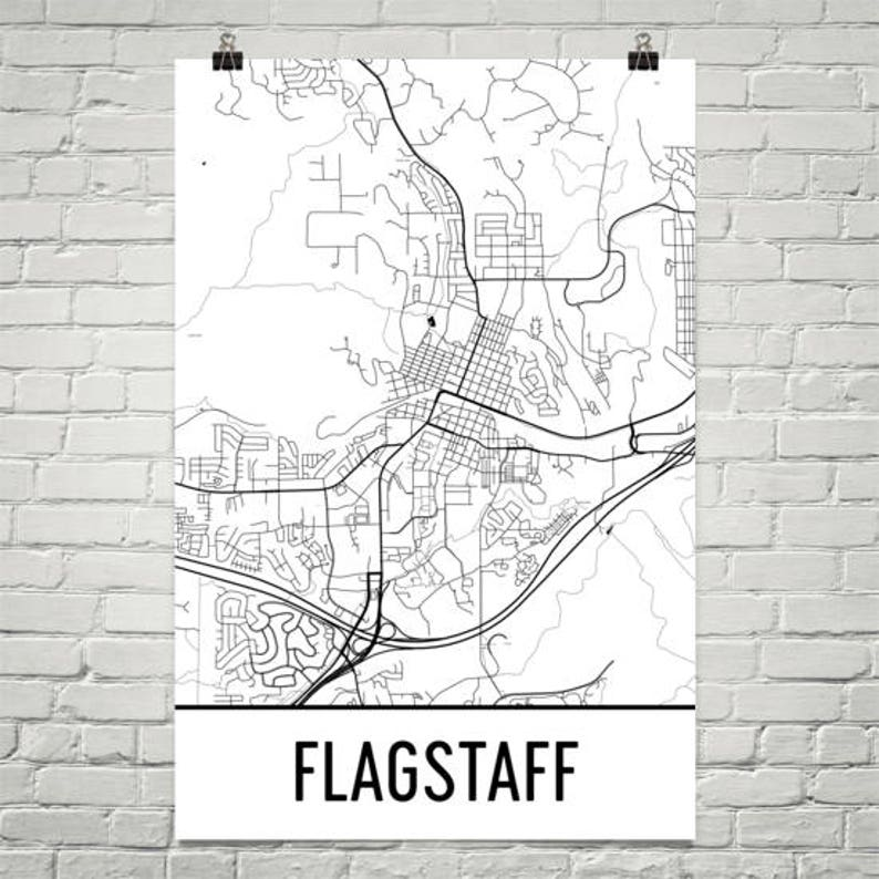 Map Of Flagstaff Arizona.Flagstaff Az Map Flagstaff Arizona Art Flagstaff Print Etsy