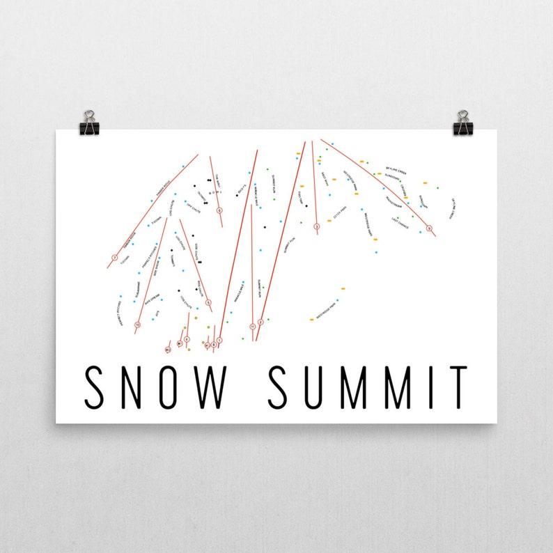 Snow Summit Ski Map Art, Big Bear, Snow Summit California, Snow Summit  Trail Map, Snowboarding Gifts, Snowboard Art, Snowboard Wall Art