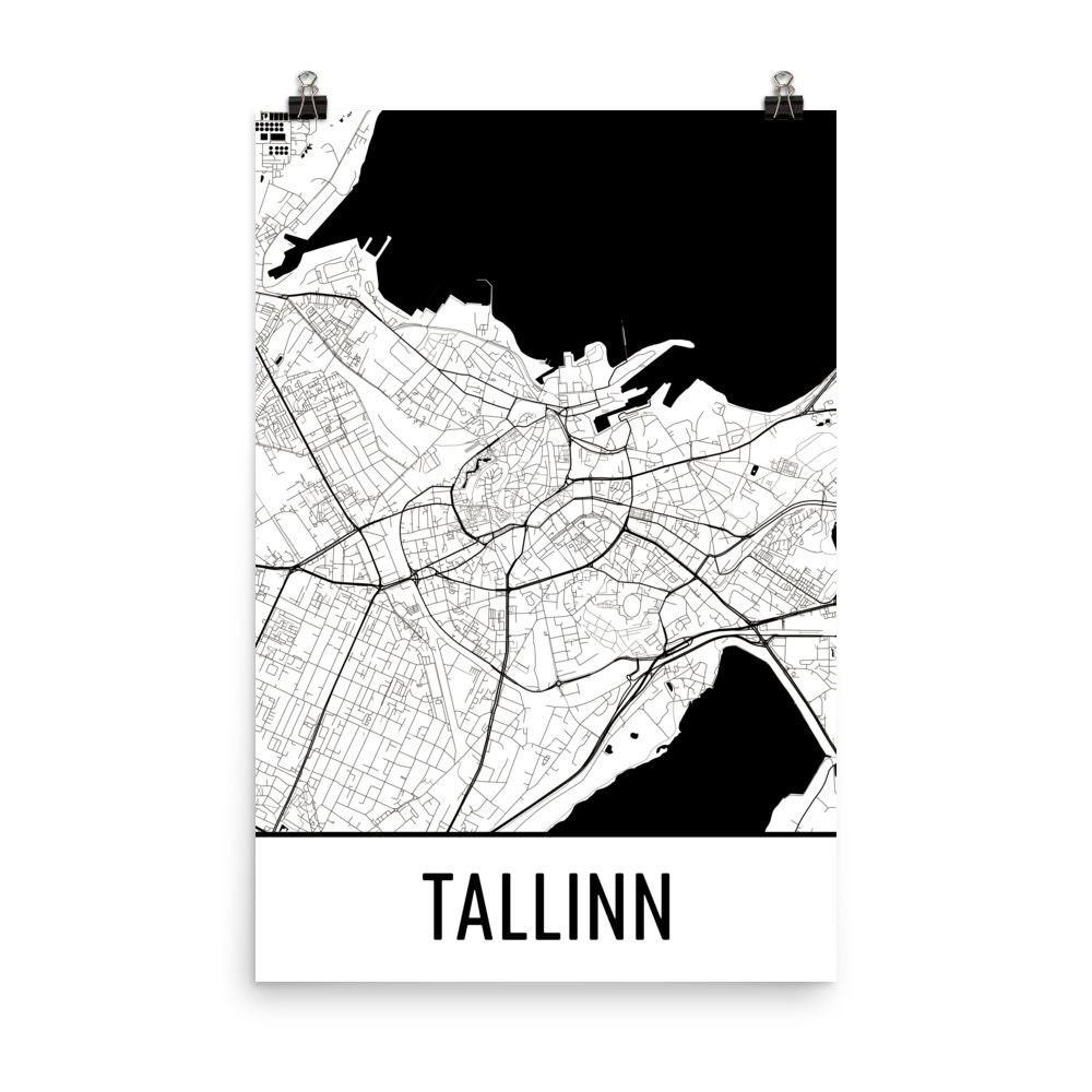Tallinn-Karte Tallinn Kunst Tallinn Druck Tallinn Estland | Etsy