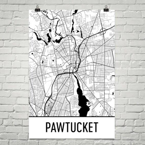 Pawtucket Zip Code Map.Pawtucket Map Pawtucket Art Pawtucket Print Pawtucket Ri Etsy