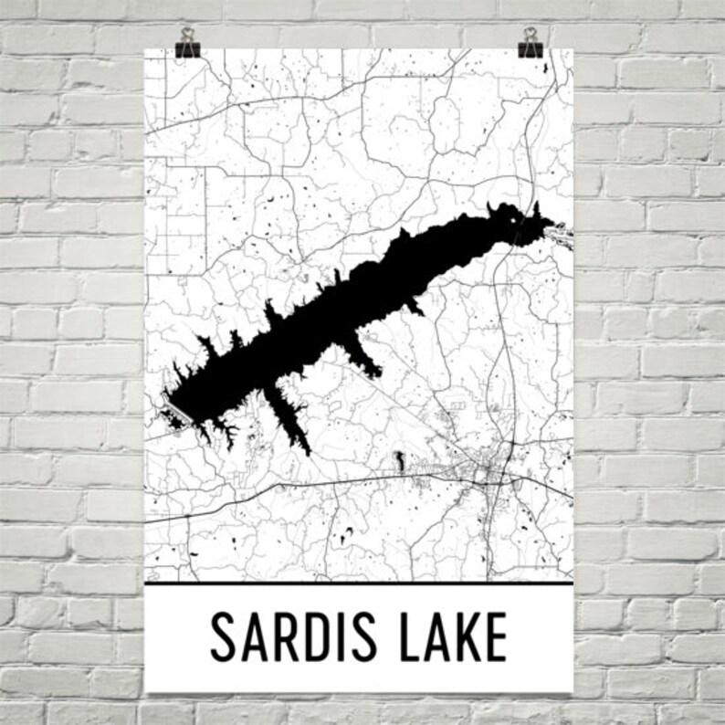 Sardis Lake Mississippi, Sardis Lake MS, Sardis Lake Map, Mississippi Map,  Lake Map, Sardis Lake Art, Mississippi Art, Sardis Lakes