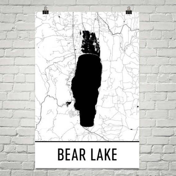 Bear Lake Idaho Bear Lake Utah Bear Lake Map Utah Lakes Etsy