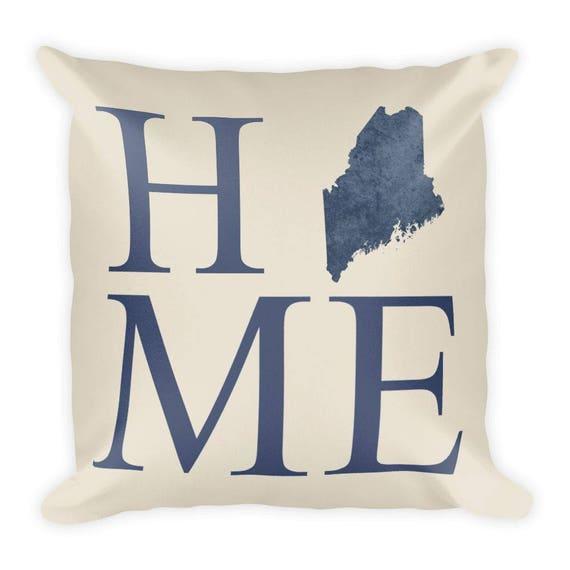 Maine Pillow Maine Gifts Maine Decor Maine Home Maine Etsy