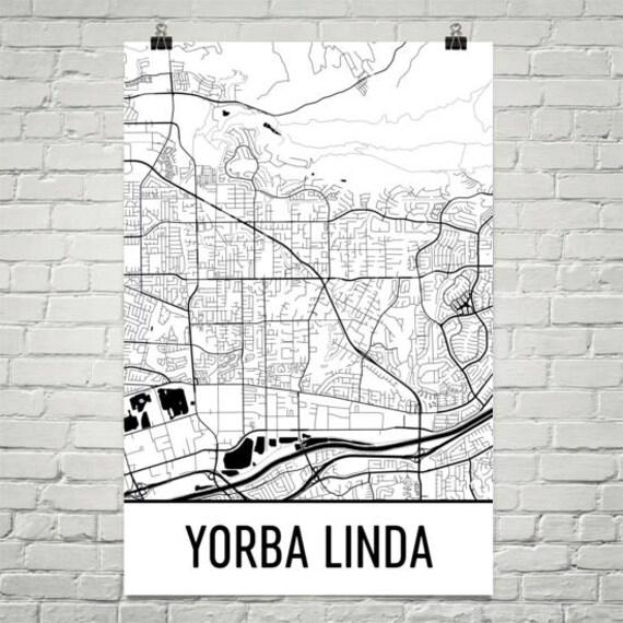 Where Is Yorba Linda California Map.Yorba Linda Ca Map Yorba Linda Art Yorba Linda Print Yorba Etsy