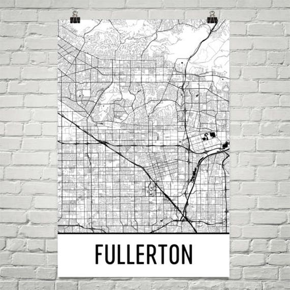 Fullerton California Map Fullerton Map Fullerton Art Fullerton Print Fullerton CA | Etsy Fullerton California Map