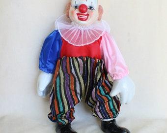 Porcelain clown doll | Etsy