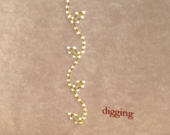 Digging, a short story in handmade chapbook