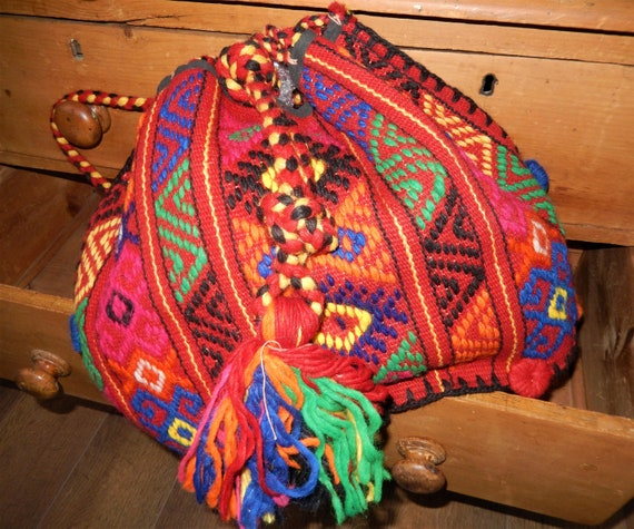 Hand woven Kilim Carpet Rucksack, Turkish Carpet B