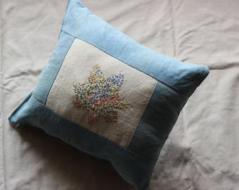 The little ' Lil Embroidered - Pillow embroidered - wool and lavender