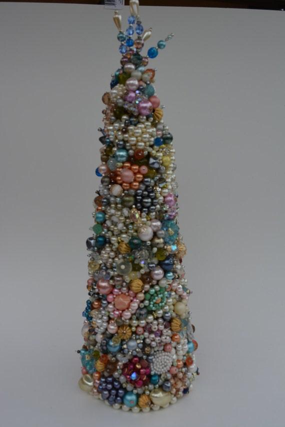 Jewelry Christmas Trees.Vintage Jewelry Christmas Tree